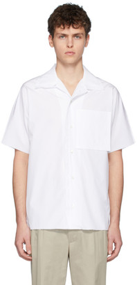 Maison Margiela White Poplin Open Collar Shirt