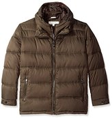 Perry Ellis Men's Zip Front Puffer with Hooded Bib