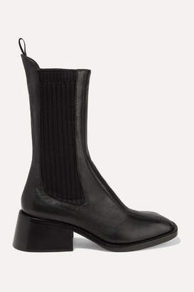 Chloé Bea Textured-leather Chelsea Boots - Black