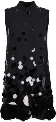 Prada Maxi Sequin Crepe Mini-dress