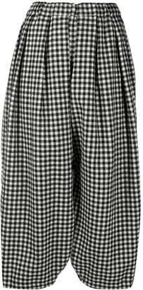 Comme des Garçons Comme des Garçons Cropped Check Print Trousers