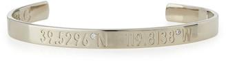 Coordinates Collection Legend Engraved Diamond Bangle Bracelet