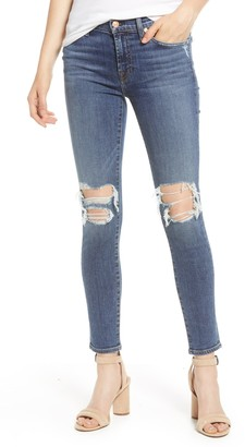 Seven7 Distressed Ankle Skinny Jeans
