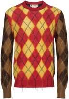 Marni Argyle colour blocked sweater