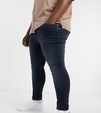 Calvin Klein Jeans Big & Tall skinny fit jeans in dark wash