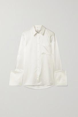 BITE Studios Organic Silk-satin Shirt - Off-white