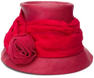 A.N.G.E.L.O. Vintage Cult 1950's draped rose bucket hat