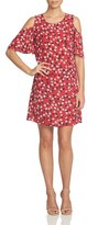 CeCe Women's Ditsy Floral Cold Shoulder Dress