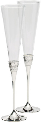 Vera Wang Silver With Love Toasting Flutes Set of 2