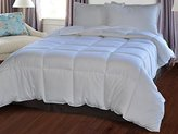Natural Comfort White Down Alternative Comforter with Embossed Microfiber Shell, Medium Weight Filled, King