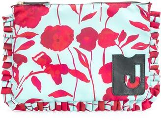 La DoubleJ Deluxe floral-print clutch