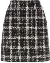 Warehouse Tweed Check Skirt
