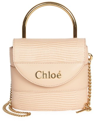 Chloé Small Aby Lizard-Embossed Leather Top Handle Bag