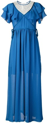 Philosophy di Lorenzo Serafini Ruffled Long Dress