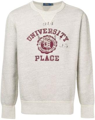 Polo Ralph Lauren collegiate-inspired sweatshirt