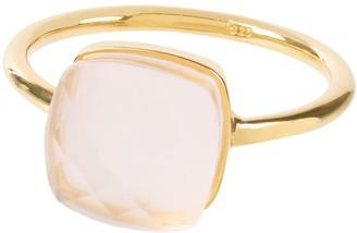 Amadeus Sophia Pink Quartz Gold Ring