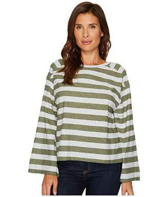 Vince Camuto Wide Long Sleeve Lydia Stripe Tee