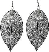 Private Label Womens Etched Leaf Earring OSFA