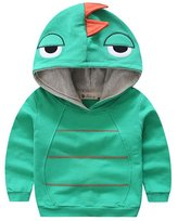 Canvos Baby Boys Autumn Long Sleeve Dinosaur Hoodie Toddler Outwear Clothes (3-4Y, )