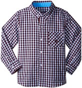 Andy & Evan Multi Check Shirt (Toddler/Kid) - Red - 5 Years