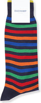 Duchamp Stripe-print Cotton-blend Socks