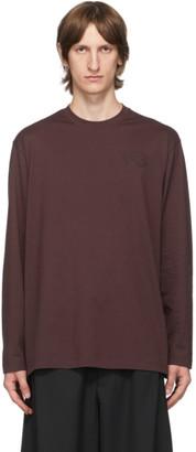 Y-3 Burgundy Classic Logo Long Sleeve T-Shirt