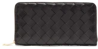 Bottega Veneta Intrecciato-leather Wallet - Black