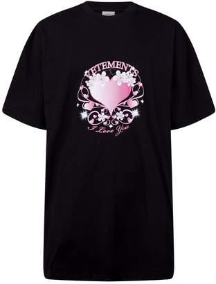 Vetements Cotton Valentine Longline T-Shirt