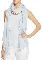 Eileen Fisher Tassel-Trimmed Organic Cotton Scarf