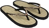 Accessorize Maldives Exquisite Beaded Seagrass Flip Flops