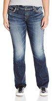 Silver Jeans Women's Plus Size Suki Mid Rise Boocut Jean