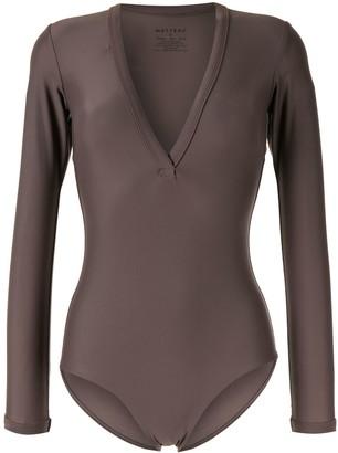 Matteau long-sleeved V-neck swimsuit