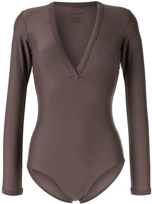 Matteau long-sleeved V-neck swimsuit