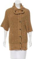Balenciaga Short Sleeve Rib Knit Cardigan