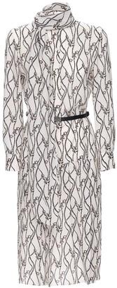 Salvatore Ferragamo Printed Silk Crepe De Chine Shirt Dress