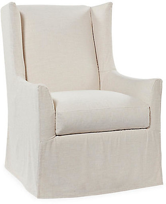 One Kings Lane Lili Swivel Chair - Ivory