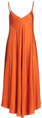 L'Agence Lorraine Slip Midi Dress