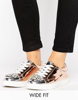 Asos Disco Wide Fit Embellished Sneakers