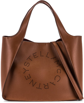 Stella McCartney Logo Crossbody Bag in Cuoio | FWRD