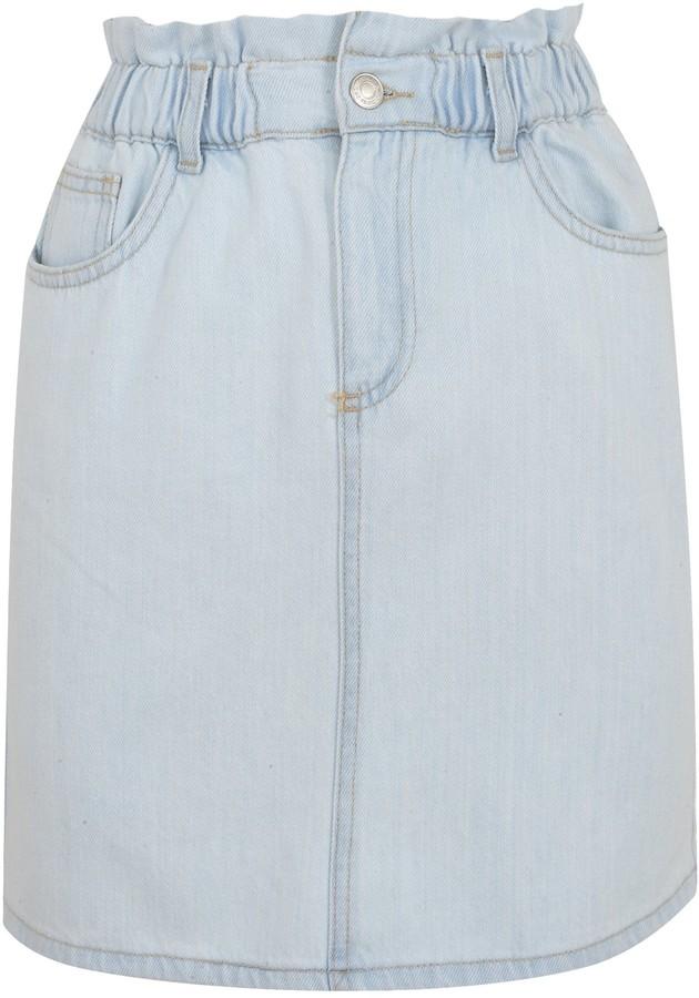 New Look Elasticated High Waist Denim Skirt