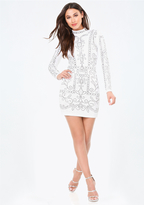 Bebe Studded Jacquard Dress