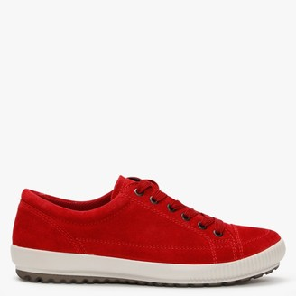 Legero Winter 1 Red Suede Lace Up Trainers