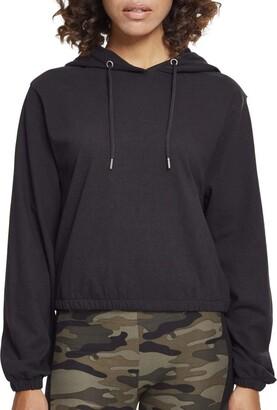 Urban Classics Women's Ladies Heavy Jersey Batwing Hoody Hooded Sweatshirt