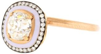 Selim Mouzannar Lilac Enamel Diamond Ring