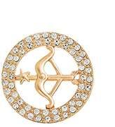 Glamorousky Elegant Sagittarius Brooch with White Austrian Element Crystal