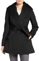 Trina Turk 'Emma' Wool Blend Wrap Coat (Regular & Petite)