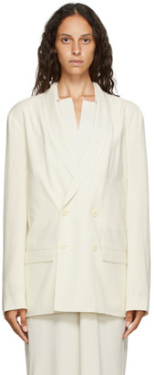 Lemaire Off-White Double-Breasted Blazer