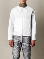 Balenciaga Silk-blend seersucker bomber jacket