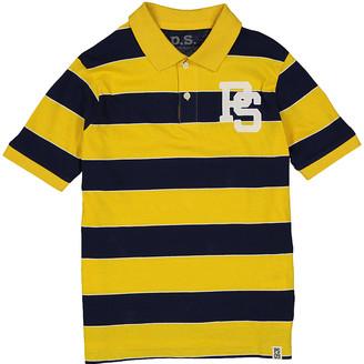 Aeropostale p.s. from Boys' Polo Shirts YELLO - Yellow & Black Stripe Logo Polo - Boys