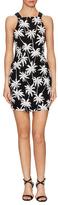 Saylor Annie Palm Tree Print Mini Dress